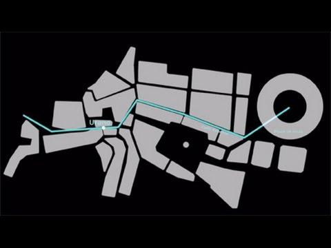 El sistema solar en la escala del encierro de Pamplona